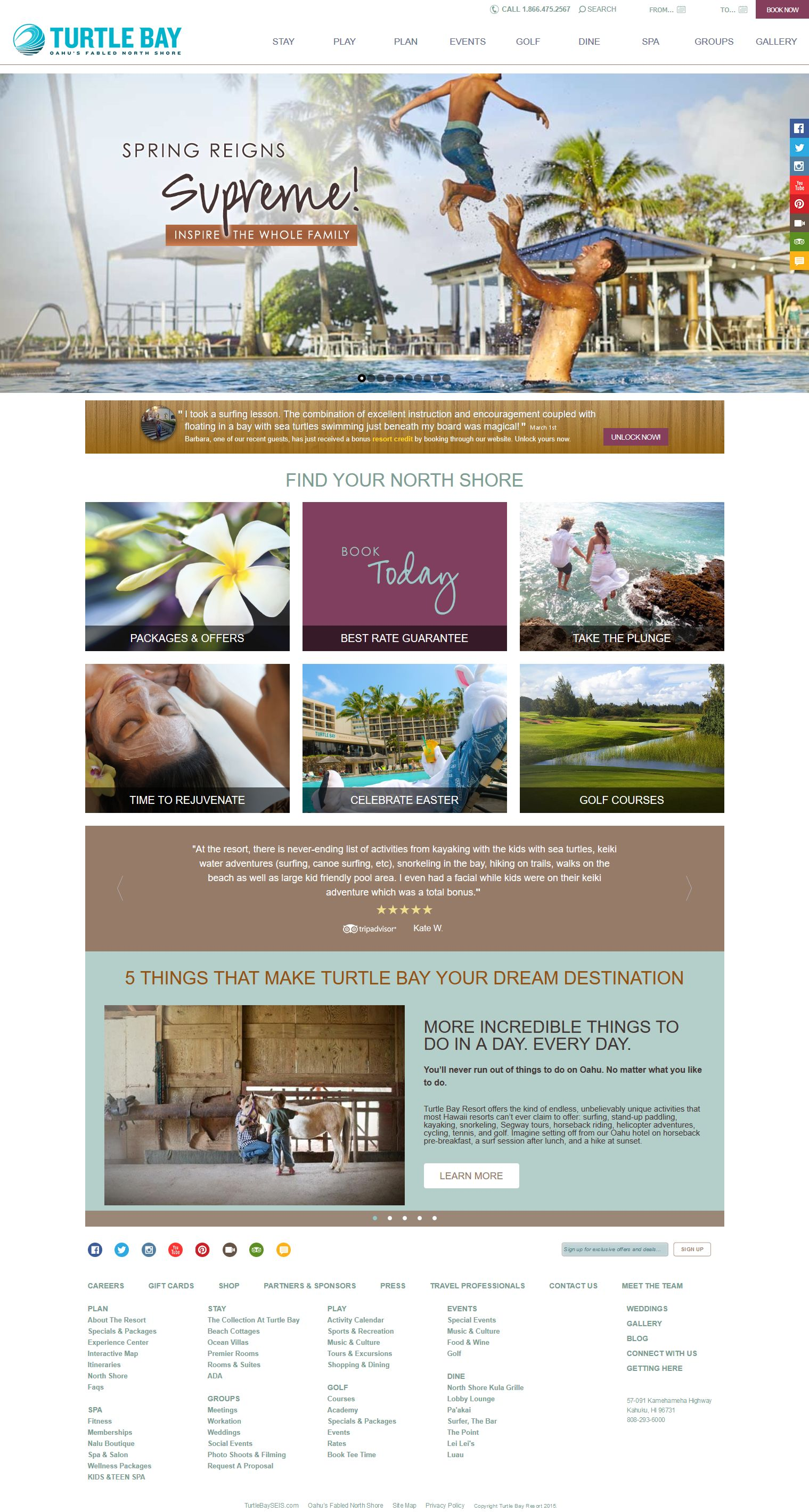 Turtle Bay Resort - running Drupal and Google Analytics