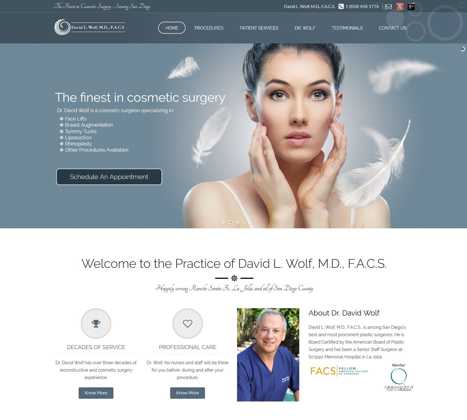 Dr Wolf's new site - running WordPress and Third Party Mobile Apps